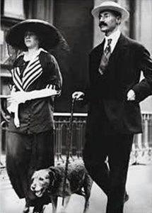 J.J.Astor z żoną Madeleine i psem Kitty