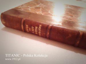 Grzbiet książki zawierajacy nazwisko autora i tytuł dzieła