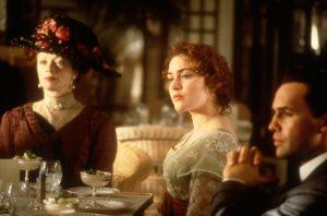 """""""Titanic"""" - film z 1997 roku, w reżyserii Jamesa Camerona. Scena w Verandah & Palm Court Cafe."""