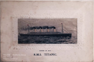 Jedwabna pocztówka z Titanica