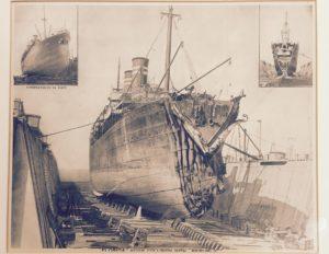 Uszkodzenia dziobu statku SS Florida