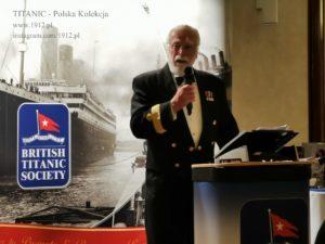 Gala na British Titanic Society, 13 kwietnia 2019, Komodor Cunarda, R.Warwick