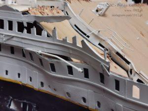Model wraku Titanica wg. stanu na 15 kwietnia 1912.