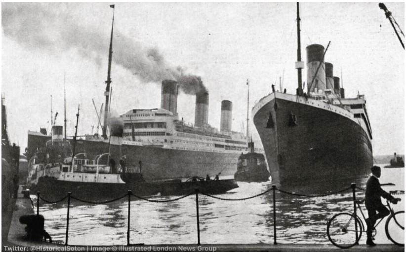 Doki w Southampton - RMS Majestic i RMS Olympic