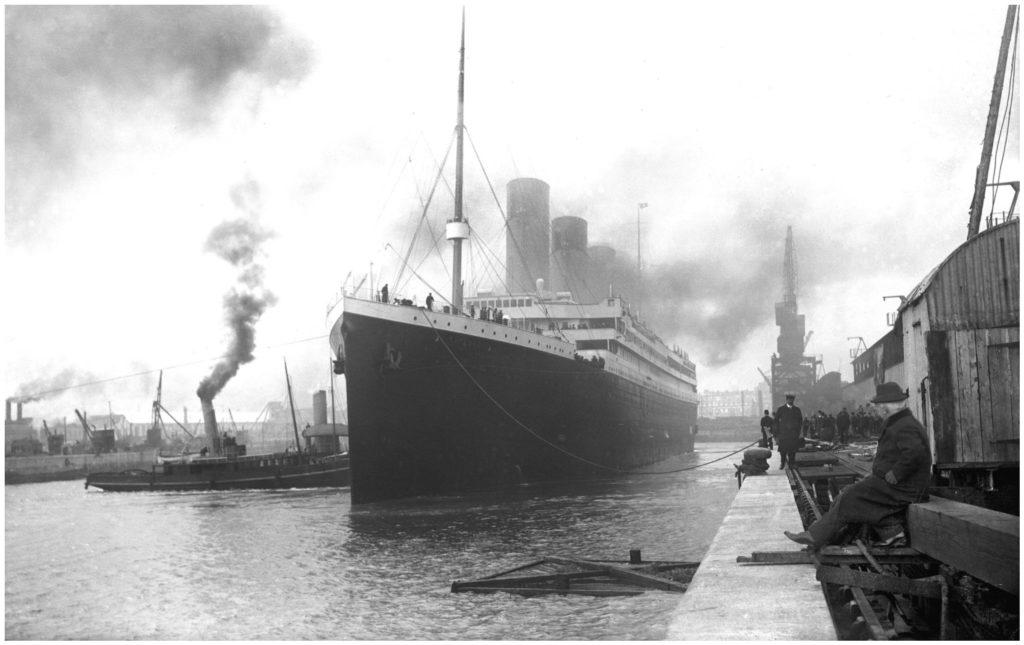 Titanic opuszcza dok, 10.04.1912