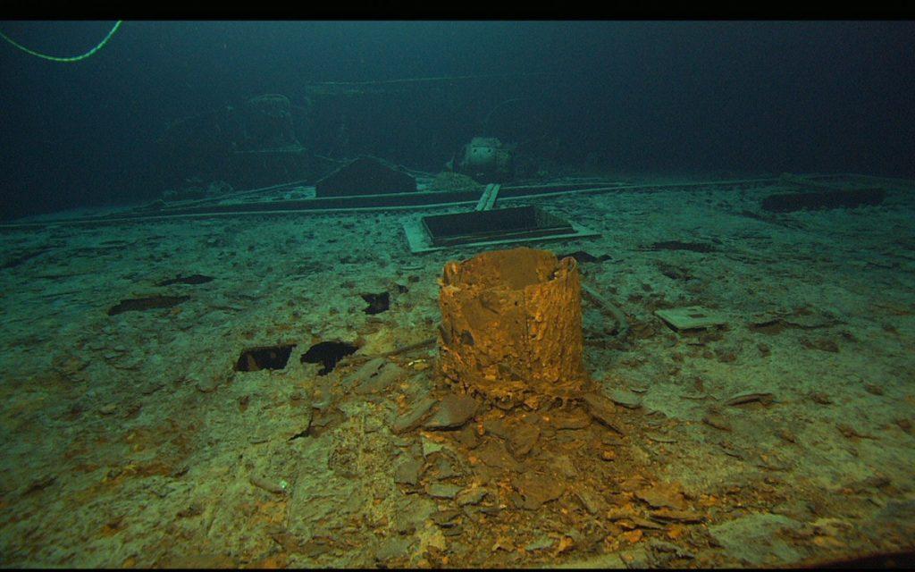 Dach nad radiostacją na Titanicu