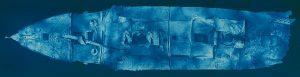 Mozaika zdjęć przedniej częsci wraku Titanica
