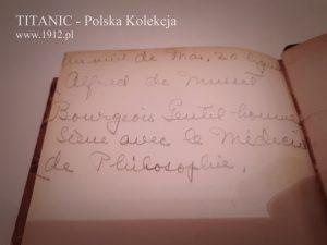 Osobiste notatki o Alfredzie de Mousset