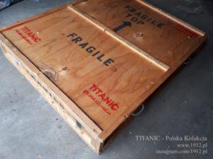 """Skrzynia transportowa panelu zegarowego z filmu """"Titanic"""" J.Camerona"""