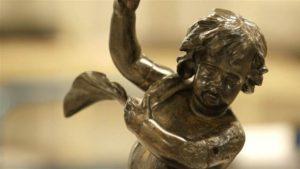 Figura Anioła z rufowej klatki schodowej  wydobyta z Titanica