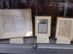 Oryginalne menu i listy z Titanica na konwencji BTS 2019