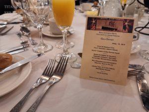 Gala na British Titanic Society, 13 kwietnia 2019