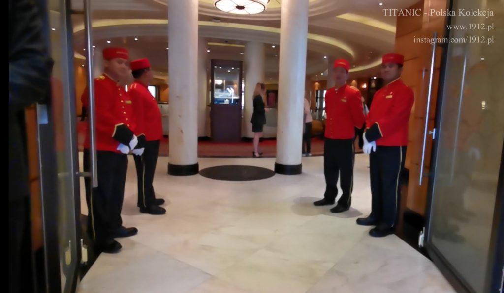 Powitanie na Queen Mary 2