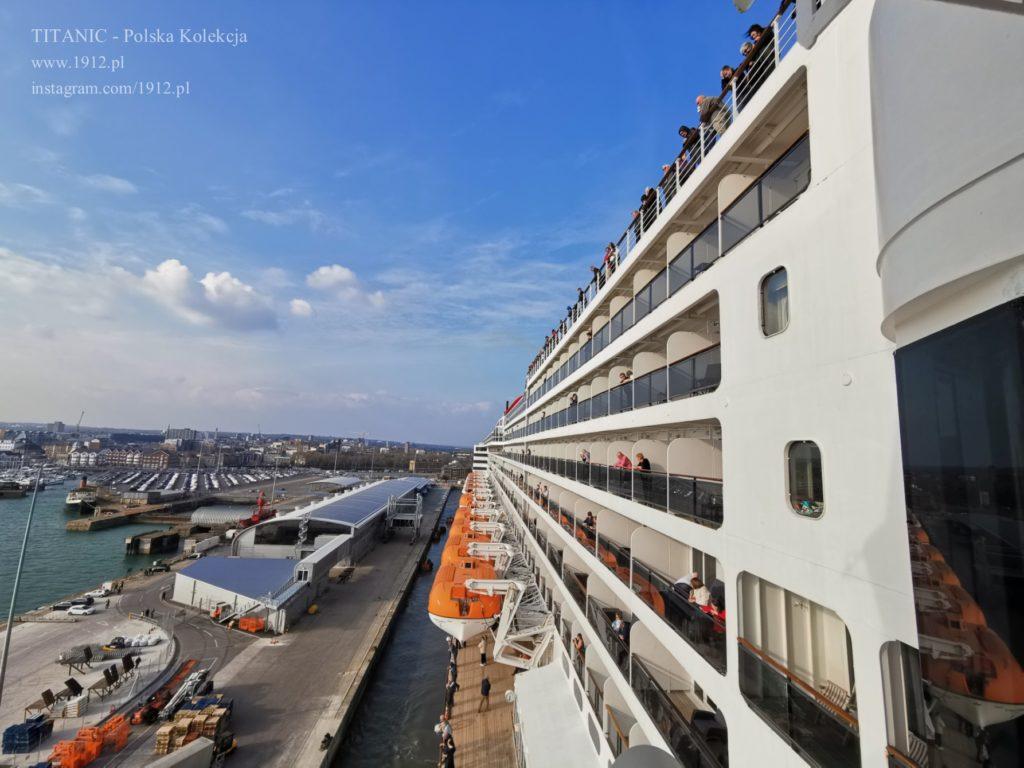 Southampton z pokładu Queen Mary 2