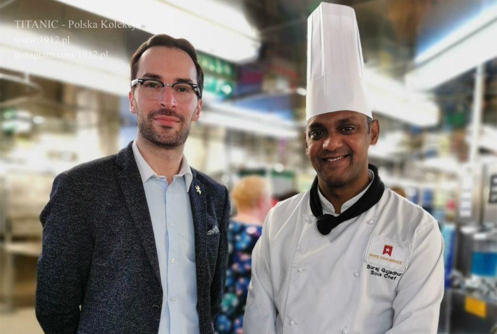 Z jednym z szefów kuchni na Queen Mary 2