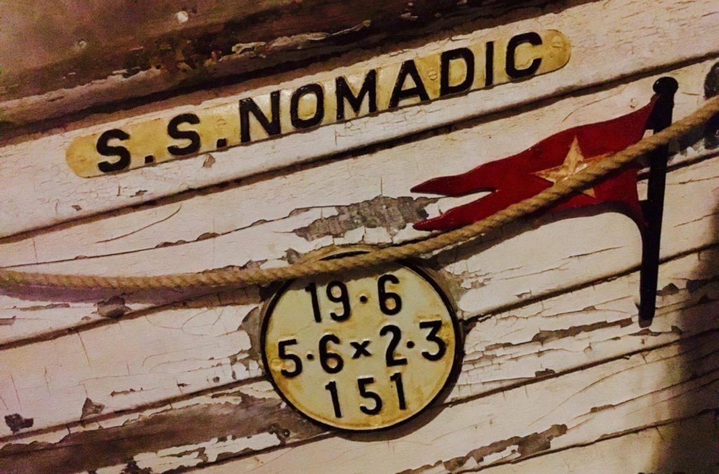 Rekonstrukcja oznaczeń lodzi ratunkowej Nomadica. ©NPS