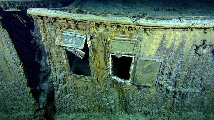Okna pokładu łodziowego na Titanicu