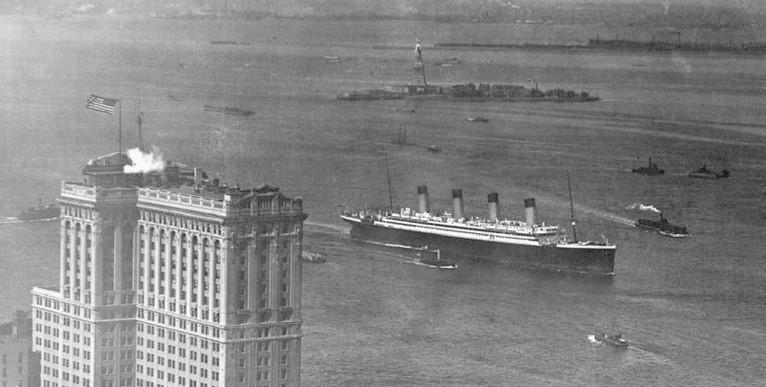 RMS Olympic w Nowym Jorku
